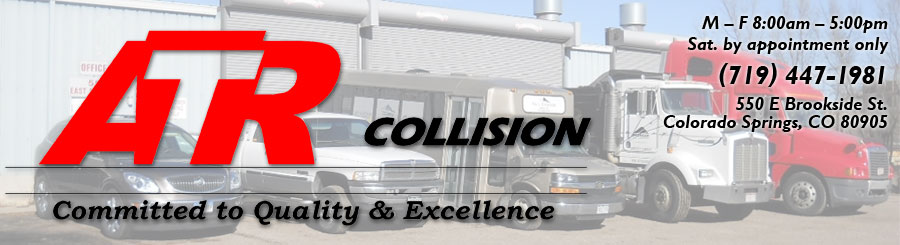 ATR Collision Logo and shop hours